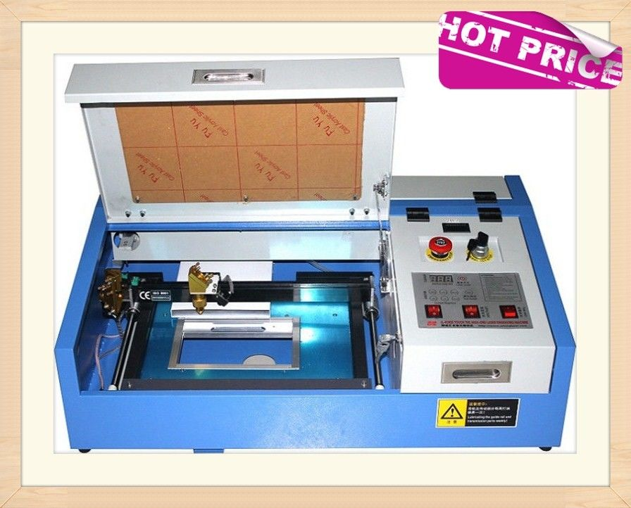 40W CO2 Laser Engraving Cutting Machine , Mini Desktop Laser Engraver OEM Service